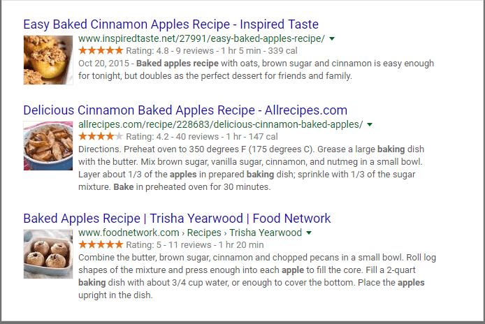 review recipes previews